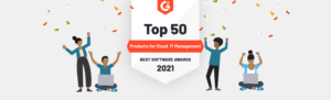 G2 cloud software award 2021 - Plesk