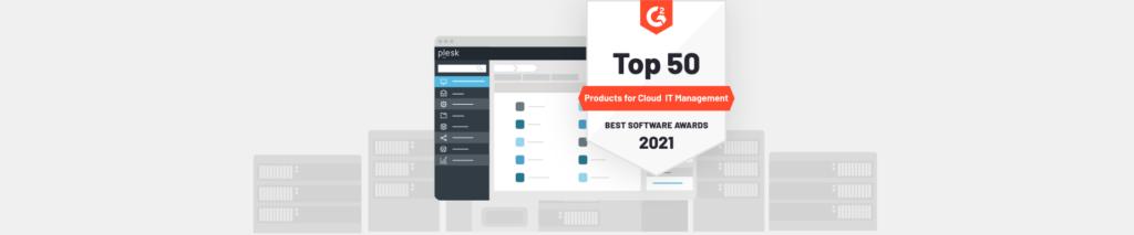 G2 aware cloud software 2021 - Plesk