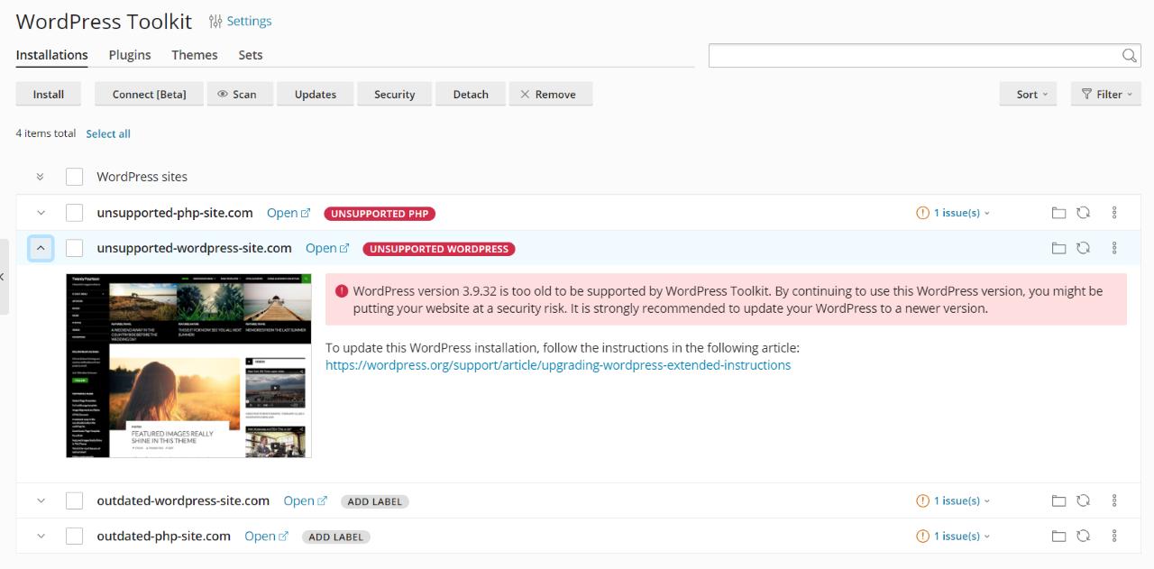 WordPress Toolkit v5.3 Plesk