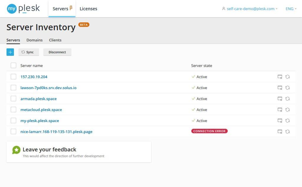 Server inventory My Plesk blog