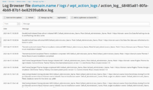WordPress Toolkit 5.4 Release - WordPress Toolkit Action Log 2 - Plesk