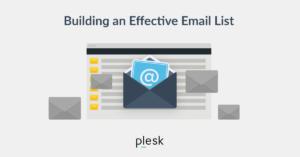 Build email list blog Plesk