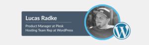 Lucas Radke WordPress hosting rep Plesk blog
