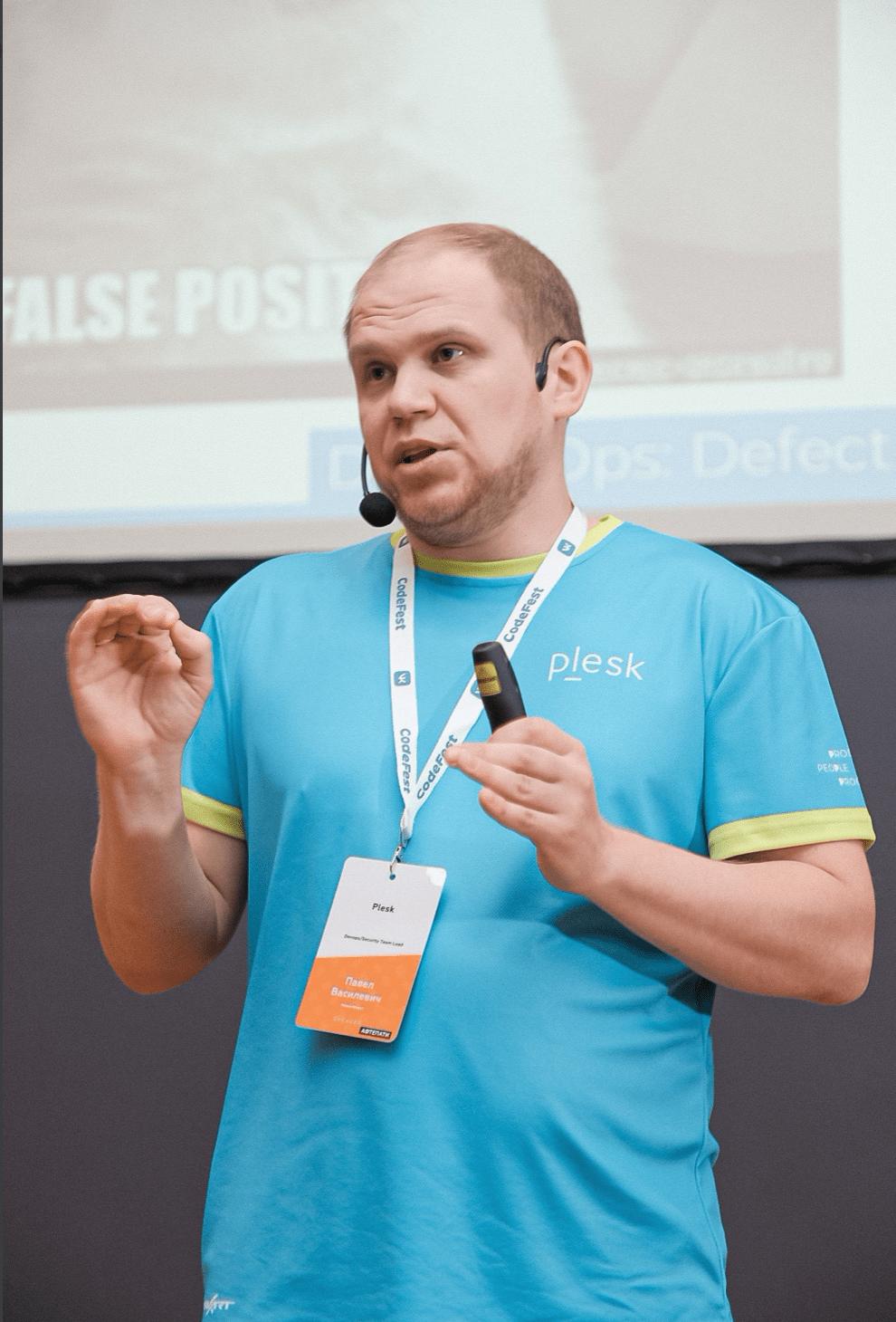 CodeFest speaker Pavel Vasilevich Plesk