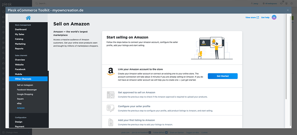 How to Start Selling Online with the New Plesk eCommerce Toolkit - Sell on Amazon- Plesk