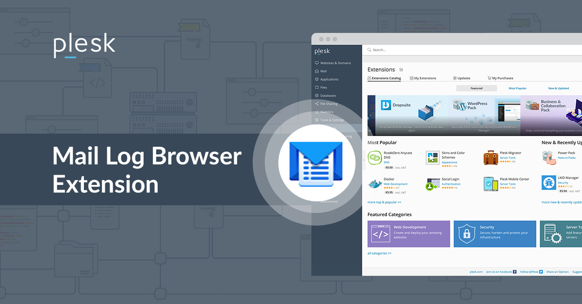 Mail Log Browser extension Plesk