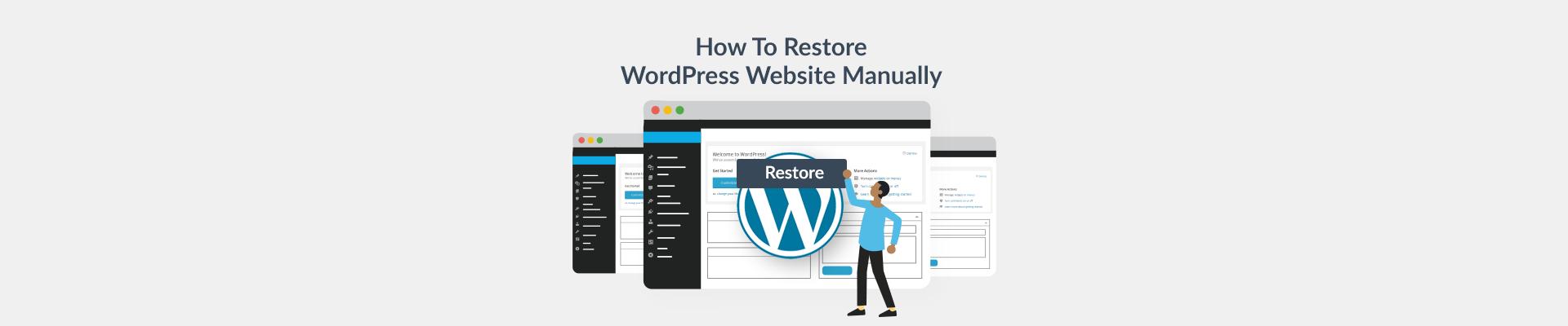WordPress restore blog Plesk